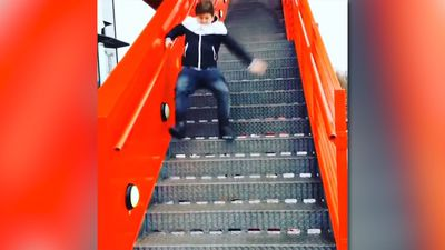 Walking down the stairs with style