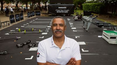 Olympic Medalist Daley Thompson opened a Pop-Up Gym to encourage people to chase their dreams