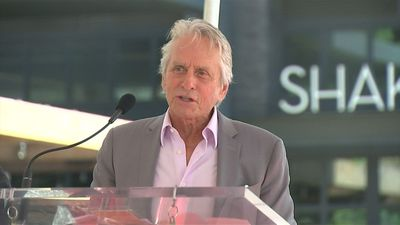Michael Douglas accepted Walk of Fame star to mark 50th career anniversary
