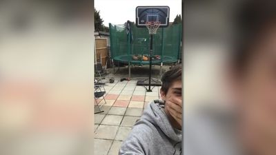 Funny basketball fail