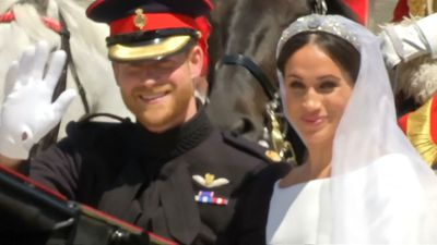 Duchess of Sussex presents wedding dress designer with major honour during Fashion Awards