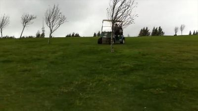Golf car fail!