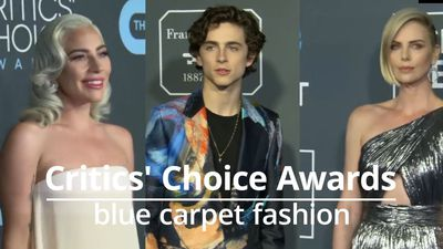 Critics' Choice Awards: Blue carpet fashion