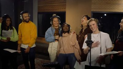 Pop singer Raye gives tips to Brit School students
