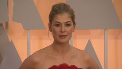 Rosamund Pike devoted to form-fitting Armani