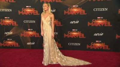 Brie Larson surprises fans at 'Captain Marvel' screenings