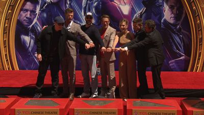 'Avengers' stars honoured in Hollywood