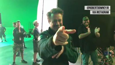 Robert Downey Jr. shares scenes from final day on 'Avengers' set