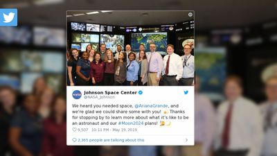 Ariana Grande spends 'coolest day of her life' at NASA Space Center