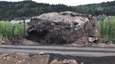 8.5-Million-Pound Landslide Boulder To Become Landmark