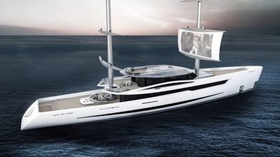 Futuristic Yacht Lets You Watch Movies On The Sails