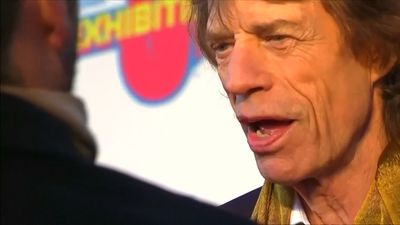 Mick Jagger returns to the stage following heart surgery