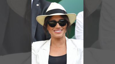 Meghan, Duchess of Sussex cheers on Serena Williams at Wimbledon