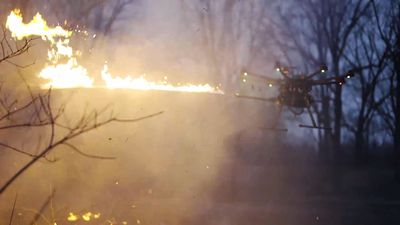 Company Launch Drone Flamethrower System