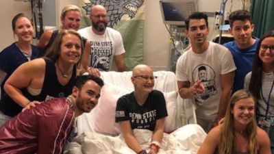 Jonas Brothers surprise fan undergoing chemotherapy