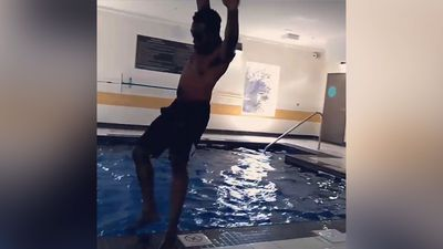 Swimming pool dancer