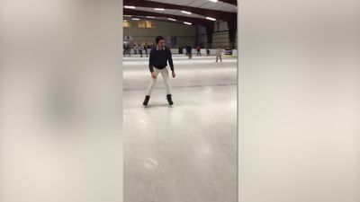 World worst executed ice skating trick!
