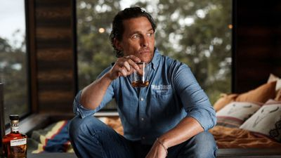 Matthew McConaughey narrowly escaped death when he stepped on a brown snake