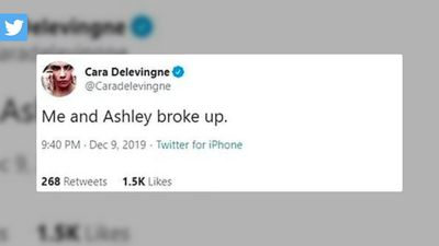 Cara Delevingne deletes tweet claiming she and Ashley Benson 'broke up'