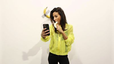 Celebrities and companies copy art Basel Duct-Taped Banana