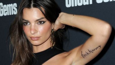 Emily Ratajkowski responds to Harvey Weinstein settlement with inked message