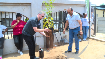 Konica Minolta South Africa planting their 50 000th tree with partners Food & Trees for Africa