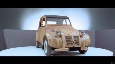 An automotive legend made of wood