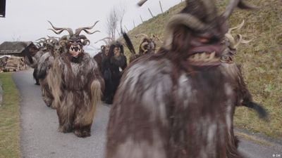 The creepy Krampus run