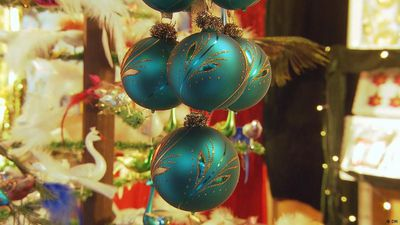 The Home of Glass Christmas ornaments
