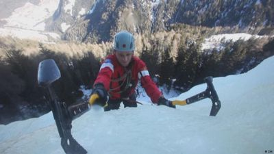 Ice Climbing in the Dolomite Alps