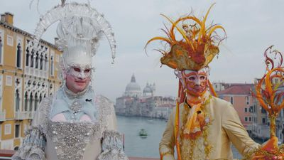 German carnival costumes in Venice