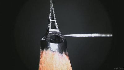 The Eiffel Tower on a pencil tip