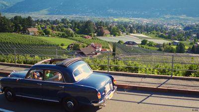 Vintage car rally in northern Italy