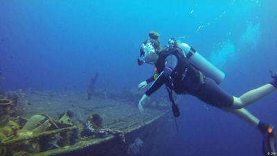 Shipwreck diving off the coast of Bali