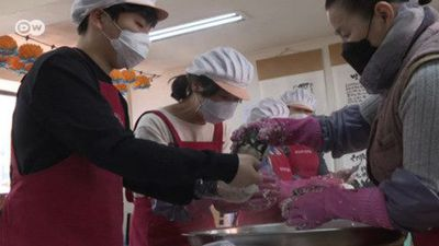 South Korean volunteers help the less fortunate