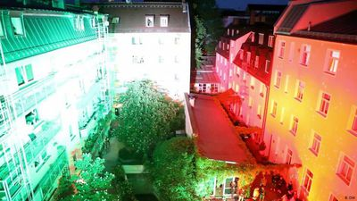 Germany: Courtyard light shows