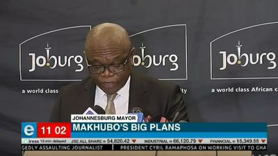 Joburg Mayor Geoff Makhubo's first briefing