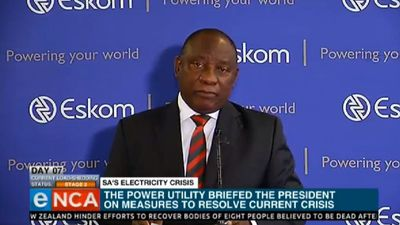 Ramaphosa on load-shedding: surprised and shocked