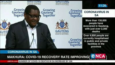 COVID-19 recovery rate improving in Gauteng