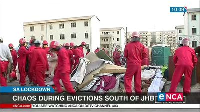 Chaos during evictions south of Johannesburg