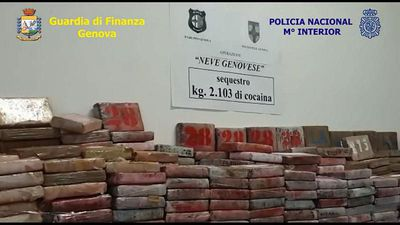 World News - Two tonnes of cocaine seized in Italy's biggest narcotics bust for 25 years