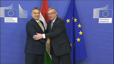 Raw Politics - Raw Moment: Jean-Claude Juncker and Viktor Orban in happier times