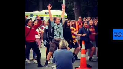 Watch: Christchurch high-school students perform haka at mosque vigil