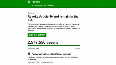 World News - Brexit: Petition to remain in the EU hits 2.5 million signatures