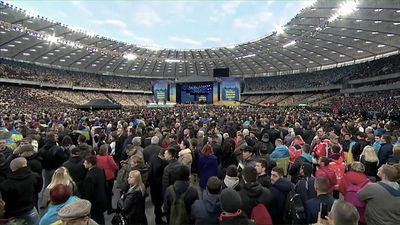 World News - Ukraine election: presidential candidates trade barbs in stadium debate