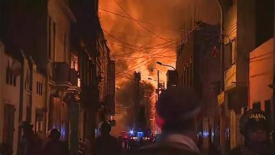 World News - Huge fire engulfs downtown Lima