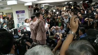 Watch: Taiwan couples tie the knot in Asia's first same-sex marriages