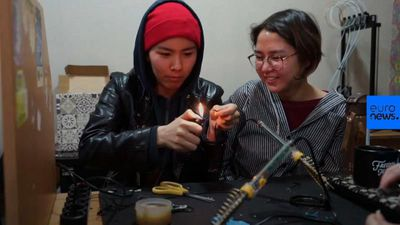 Watch: Young women aim to build Kyrgyzstan's first satellite