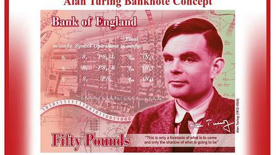 Bank of England celebrates 'outstanding' Alan Turing on new £50 note
