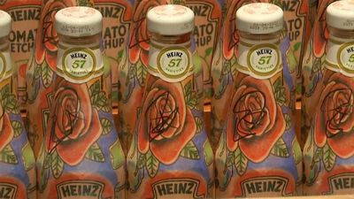 'Tomato Edchup': Ed Sheeran body art Ketchup bottles auctioned by singer for £1500